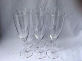 6 x champagne glasses