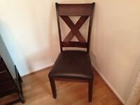 BRAND NEW (Never Used) Dining room chairs with leather seats - £30 each
