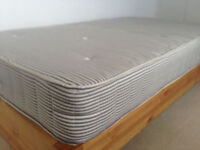 Brand new hand-made 'large single' Kyoto Midi bed (3'6'' x 6'3'') & Extra Firm orthopaedic matress