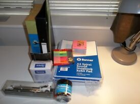 Stationery Bundle - Notebooks, Post-it-notes, paper, highlighters etc - New