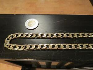 Nice Heavy Mens 10k Solid Gold Curb Link Chain 94 grams