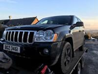 2006 Jeep Grand Cherokee 3.0crd limited black / all Parts's available