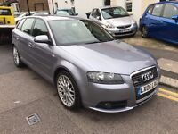 AUDI A3 3.2 QUATTRO S LINE AUTO FULL HISTORY HEATED LEATHERS BOSE SOUND 1 P/OWNER PARKING SENSORS