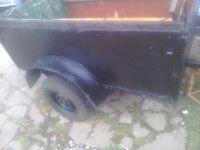 A car trailer 5feetx3feet ideal tip runs or general use