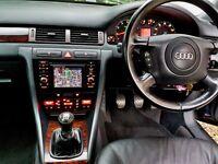 Audi A6 1.8T Manual Blue BRC LPG 49.5MPG in town Xenons Bluetooth SatNav Leather Parking sensors VGC