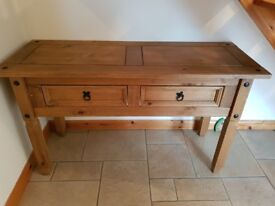 Mexican pine large dresser and side board