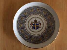 POPE JOHN PAUL II VISIT TO UK 1982 7 INCH FLUTED DISH TRAY ROYAL WORCESTER