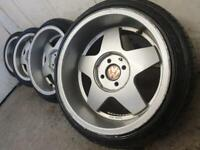 "16"" krescher staggered alloy wheels 4 x 100 front 7.5 Rear 9j"