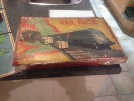 1940's Board Game - Rail Race by Spears