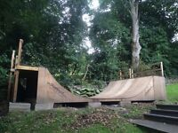 Large outdoor SKATE RAMP 12ftx24ftx4ft plus 5ft ext.