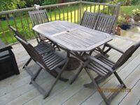Seven piece Garden Furniture set