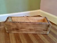 Handmade Wood Plater Plant Pot Trough Rustic Shabby Chic Waney Edge