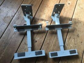 AVF Speaker Wall Mount Brackets Swivel Metal Pair 15-30cm