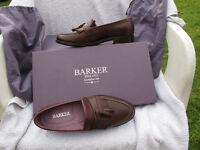 Barker's Walnut calf ladies shoes, flats size 4D