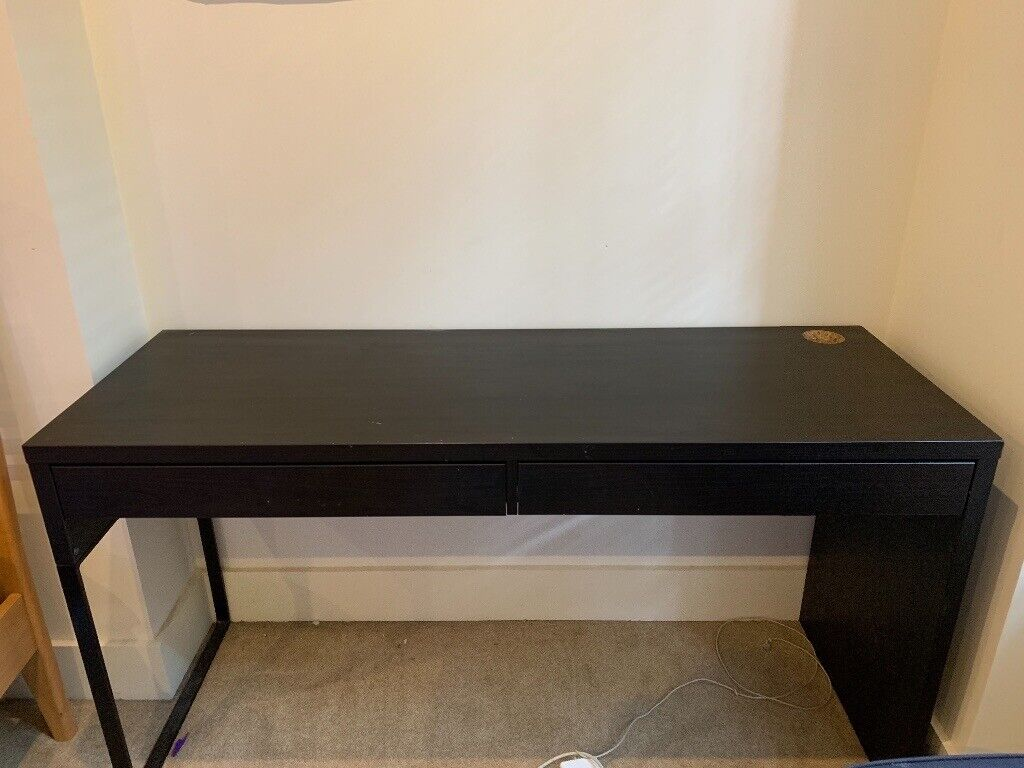 Ikea Micke Dark Brown Wood Desk And Desk Chair 2 Drawers Excellent Condition In Westminster London Gumtree