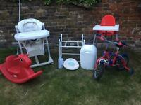 Baby, child equipment and toys £5.00per item