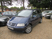 VOLKSWAGON SHARAN 130BHP 1.9 TDI 2004 BRAND NEW TYRES ALL AROUND NEW CLUTCH FITTED 2 FORMER KEEPERS