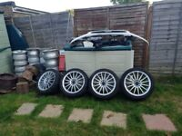 Bk racing 17 inch alloy wheels