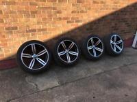 GENUINE 167 BMW M6 ALLOYS 19 INCH WHEELS TYRES MV,M,M5,M6,M3,E60,E61,E63,E64