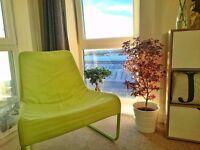 IKEA LOCKSTA lounge chair - green