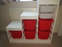 White trofast unit, toy storage unit IKEA, can deliver