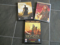 3 DVDs Braveheart, Gladiator and Mongol