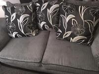 Grey an black couch