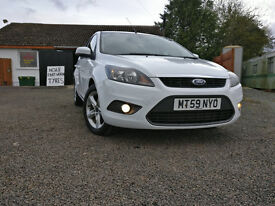 Stunning White Ford Focus Zetec TDCI-Only 89,000 miles!