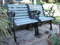 Cast Iron Wood Slatted Garden Chairs