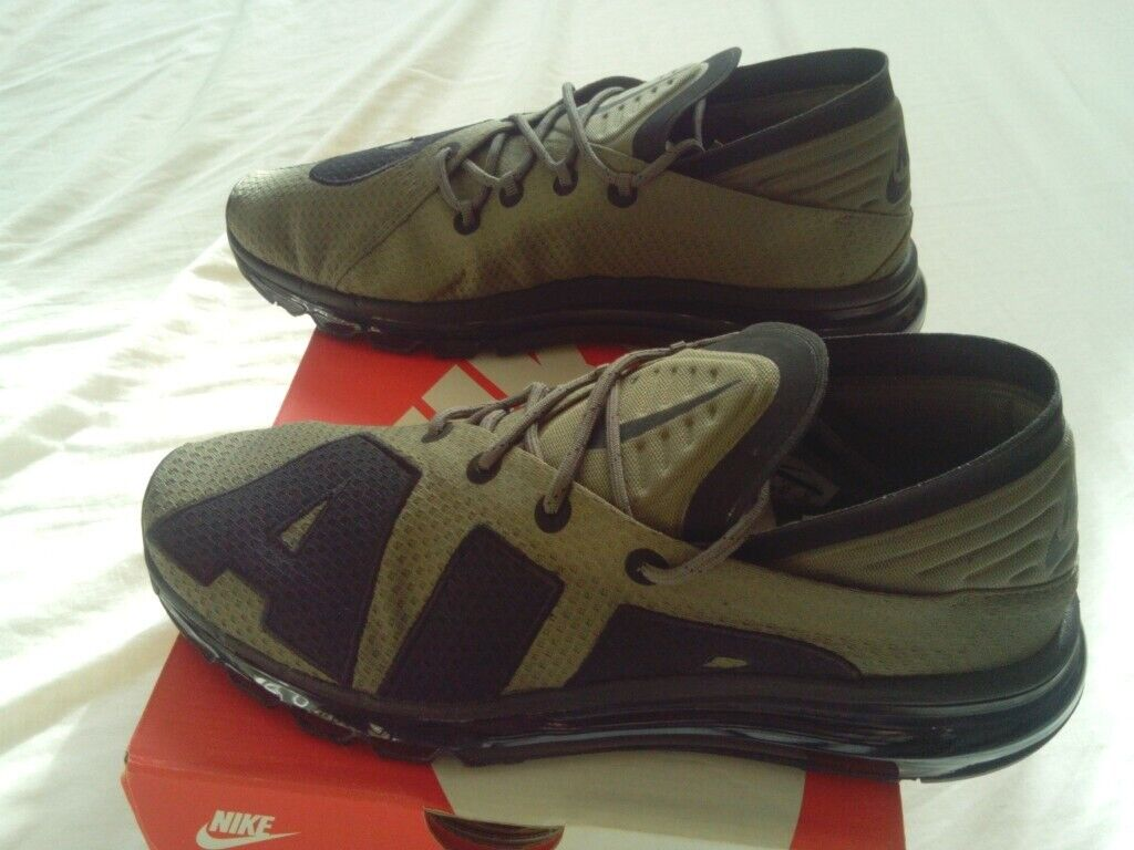 check out 727c0 ffdb4 RARE Nike Air Max Flair Trainers UK Size 9 Medium Olive And Black