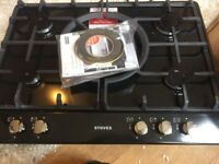 new in box Stoves Sterling G700C Gas Hob 70cm wide 5 Burners in black