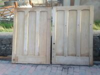 Two very old and heavy oak doors.