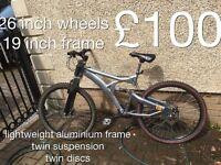 Adult gents or ladies lightweight Aluminium frame mountain bike MOUNTAIN BIKE £50 -£100