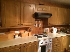 Oak effect kitchen cabinet / cupboard doors.