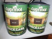1 TIN OF CUPRINOL RICH OAK FENCE CARE - 5L UNOPENED - £7 ONO