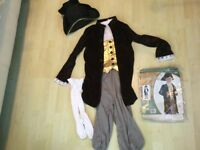 Kids - Young Gentleman Victorian or Admiral Fancy Dress - waistcoat, trousers, hat, socks, ruffle
