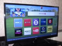 """42"""" LG LED SMART TV FULL HD BUILTIN FREEVIEW CAN DELIVER"""