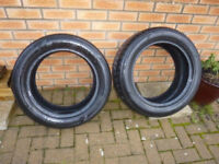Nexen 225 55 R17 97 V tyres almost new 2 tyres pair. Vauxhall Ford etc 225/55R17
