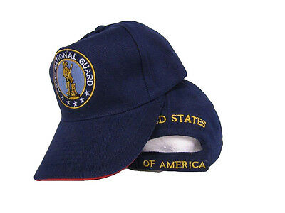 Guard Emblem - Army National Guard Emblem Seal Embroidered Navy Blue Baseball Hat Cap Premium