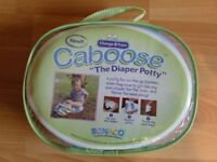 CABOOSE TRAVEL POTTY FOR NAPPIES /DIAPERS FOR TOILET TRAINING ON THE GO