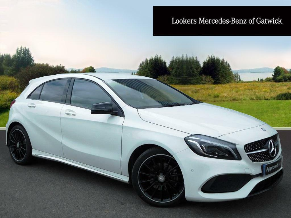 mercedes benz a class a 200 d amg line premium white. Black Bedroom Furniture Sets. Home Design Ideas