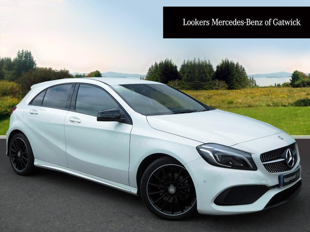 mercedes benz a class a 200 d amg line premium white 2016 07 08 in crawley west sussex. Black Bedroom Furniture Sets. Home Design Ideas