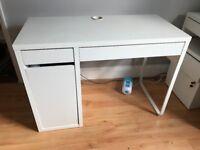 Ikea MICKE Desk - white with cupboard