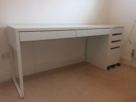 Large desk & pedestal storage
