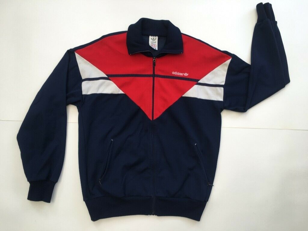 60c7e2510e15d Vintage 80s Adidas Originals Tracksuit Jacket   blue/red/white   size M    made in Yugoslavia   in Bexleyheath, London   Gumtree