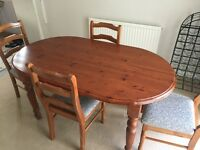 Ducal Table, 4 Chairs and Sideboard