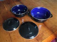2 Casserole Pots with lids