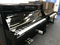 Danemann 118 Upright piano Brand New Black with Chrome 5 year warranty