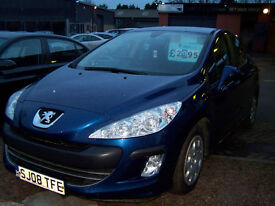 2008 08 PEUGEOT 308 diesel 5 DOOR NEW MOT GOOD SPEC 2 KEYS HANDBOOK REDUCED PRICE £2495