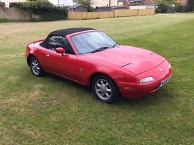 Mazda mx5 mk1 classic red 55,000 very low millage